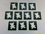 1 - 100  x  Teddy Bear stencils    Great for glitter tattoos / airbrush tattoos  Fundraise for Children in Need